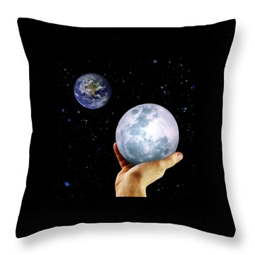 Throw Pillow featuring the photograph Give Her The Moon by Michele Cornelius