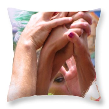 Give Me A Hand Throw Pillow by FeVa  Fotos