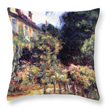 Giverny Throw Pillow by Claude Monet