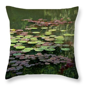 Giverny Lily Pads Throw Pillow