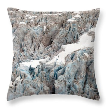 Glacial Crevasses Throw Pillow