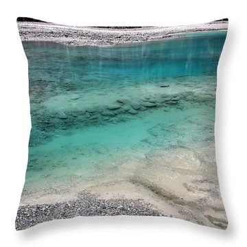 Throw Pillow featuring the photograph Glacial Pool by Laurel Talabere