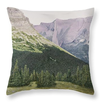 Glacier National Park Montana Throw Pillow