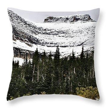 Glacier Park Bowlrock Throw Pillow by Susan Kinney