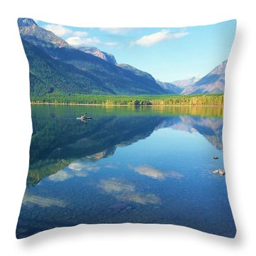 Glacier Park Magic Throw Pillow