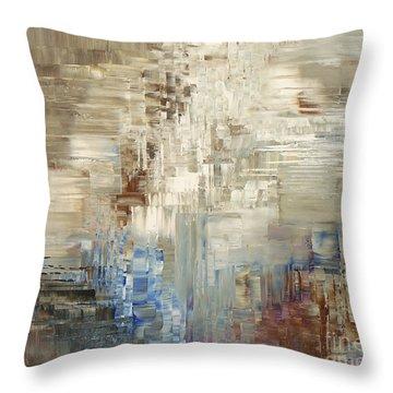 Glaciology Throw Pillow by Tatiana Iliina
