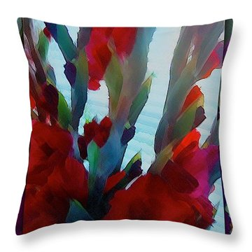 Throw Pillow featuring the digital art Glad by Richard Laeton