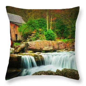 Glade Creek Mill 2 Throw Pillow