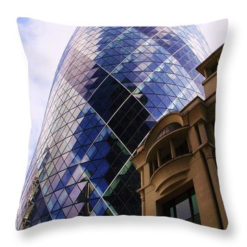 Glass And Stone Throw Pillow by John Clark