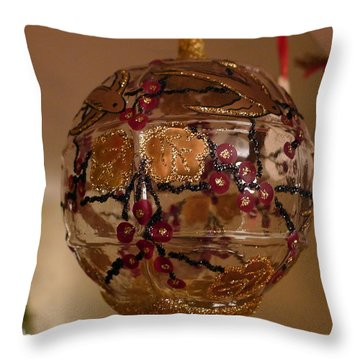 Throw Pillow featuring the photograph Glass Bauble by Richard Reeve