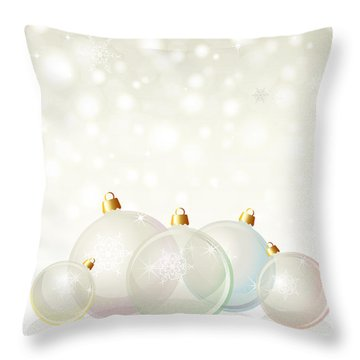 Glass Baubles Pastel Throw Pillow by Jane Rix