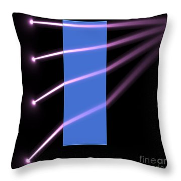 Throw Pillow featuring the digital art Glass Block 2 by Russell Kightley