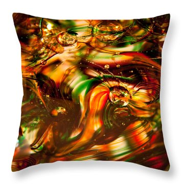 Glass Macro I Throw Pillow by David Patterson