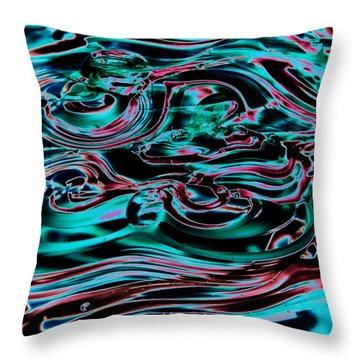 Glass Macro IIia Throw Pillow by David Patterson