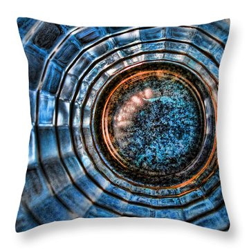Glass Series 3 - The Time Tunnel Throw Pillow