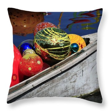 Throw Pillow featuring the photograph Glass Spheres In Bow by Jerry Bunger