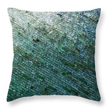 Glass Strata Throw Pillow