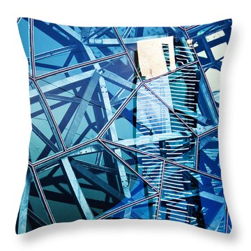 Glasshouse City Throw Pillow by Andrew Paranavitana
