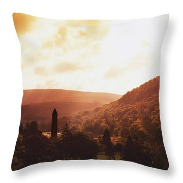 Glendalough, County Wicklow, Ireland Throw Pillow by The Irish Image Collection