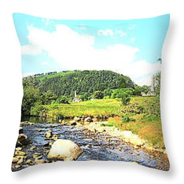 Glendalough Panorama Throw Pillow
