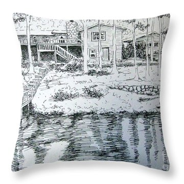 Glen's Home Throw Pillow by Gretchen Allen