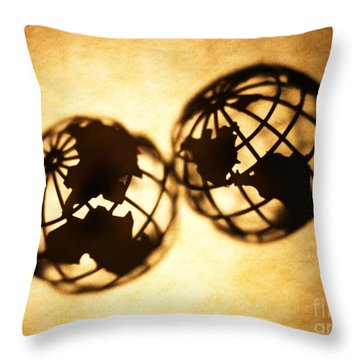 Globe 2 Throw Pillow by Tony Cordoza