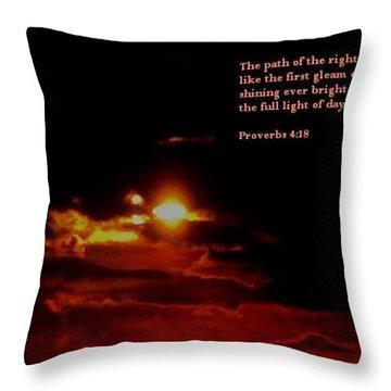 Glorious 2 Throw Pillow by Maria Urso