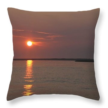 Glorious Chatham Sunrise   Throw Pillow