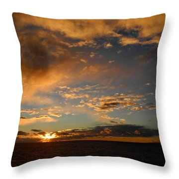Glorious Sunrise On The Indian Ocean Throw Pillow
