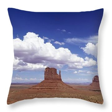 Glove Buttes And Clouds Throw Pillow by Axiom Photographic