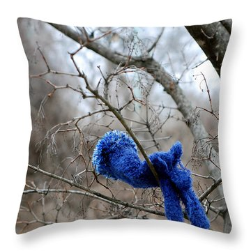 Glove Lost Throw Pillow by Lisa Phillips