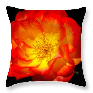 Throw Pillow featuring the photograph Glowing Center by Joan Bertucci