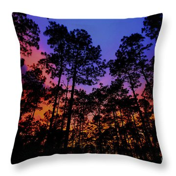 Glowing Forest Throw Pillow