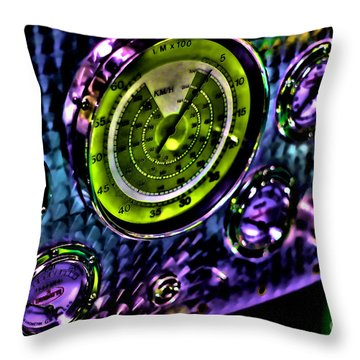 Glowing Gauges Throw Pillow