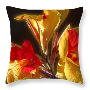 Throw Pillow featuring the photograph Glowing Iris by DigiArt Diaries by Vicky B Fuller
