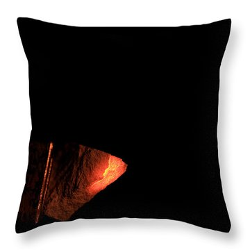 Glowing Lime Limelight Throw Pillow by Ted Kinsman