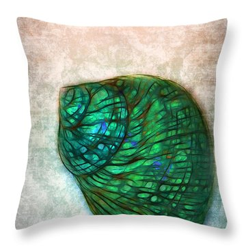 Glowing Seashell Throw Pillow by Judi Bagwell