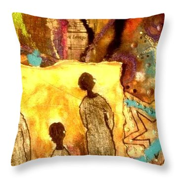 Glowing Spirits Throw Pillow by Angela L Walker