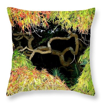 Gnarly Autumn Beauty Throw Pillow by Will Borden