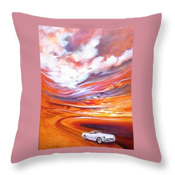 Corvette Heaven Throw Pillow