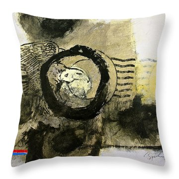 Go In Post Hole Throw Pillow