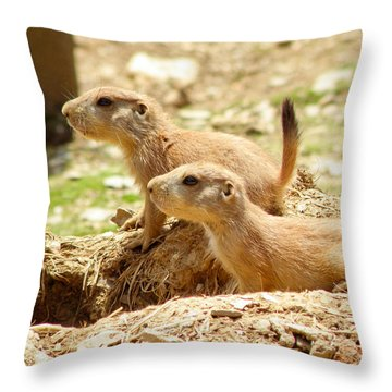 Go West Young Man Throw Pillow
