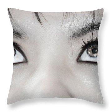 Throw Pillow featuring the photograph Goddess Eyes by Ester  Rogers