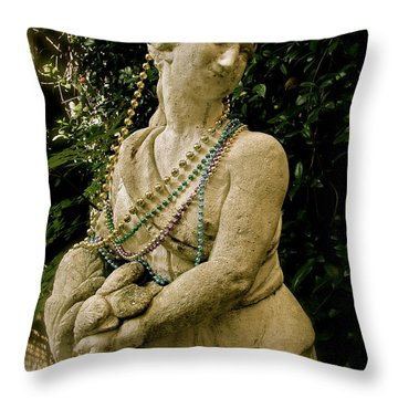 Goddess Of The Bayou Throw Pillow by Laura Brightwood