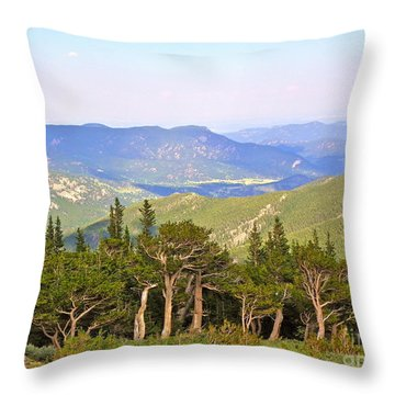 Throw Pillow featuring the photograph God's Country by Eve Spring