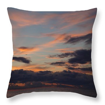 Throw Pillow featuring the photograph God's Evening Painting by Bonfire Photography