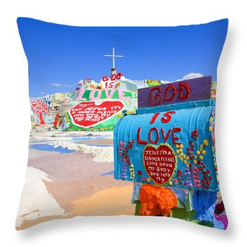 Throw Pillow featuring the photograph God's Mailbox by Hugh Smith