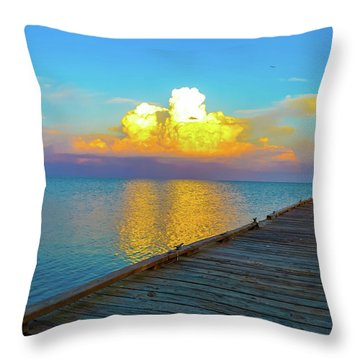 Gods' Painting Throw Pillow by Shannon Harrington