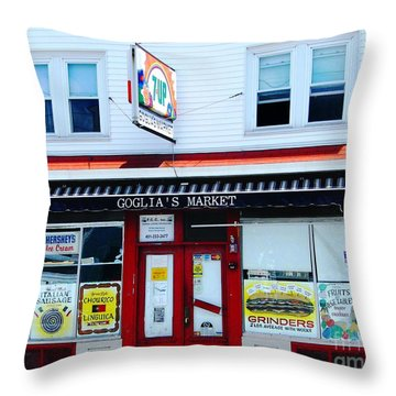 Goglias Market Bristol Ri Throw Pillow