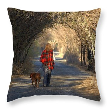 Going For A Walk  The Photograph Throw Pillow